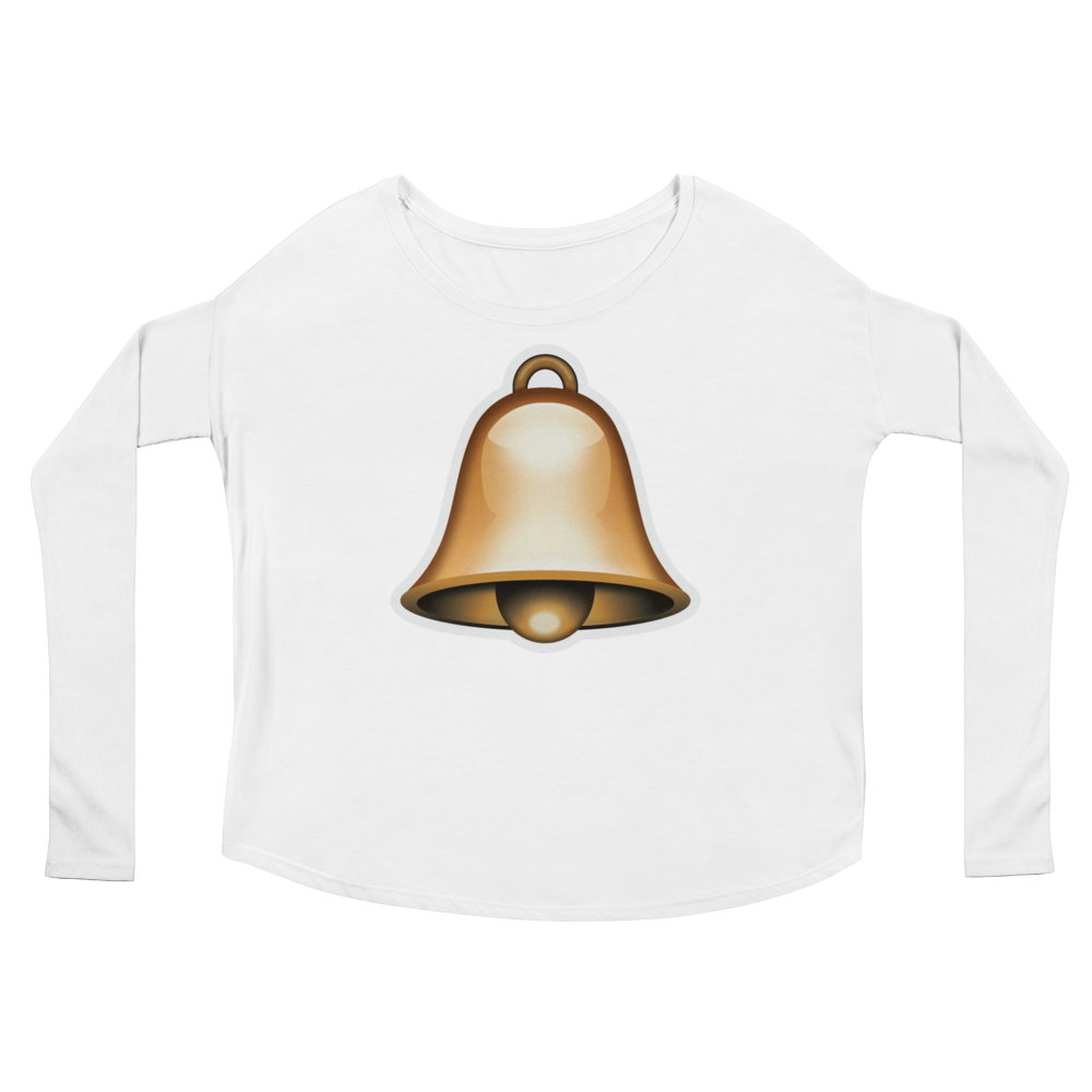 Women's Emoji Long Sleeve T-Shirt - Bell-Just Emoji