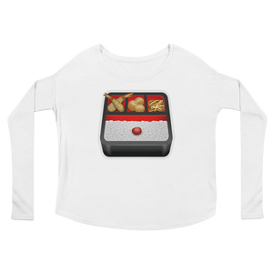 Women's Emoji Long Sleeve T-Shirt - Bento Box-Just Emoji
