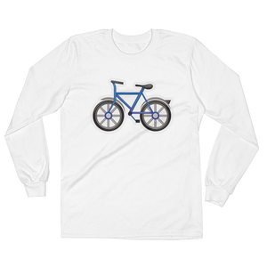Men's Emoji Long Sleeve T-Shirt - Bicycle-Just Emoji