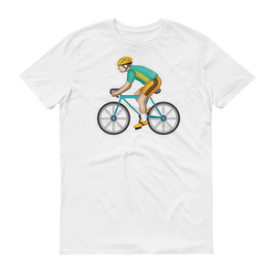 Men's Emoji T-Shirt - Bicyclist-Just Emoji