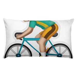 Emoji Bed Pillow - Bicyclist-Just Emoji