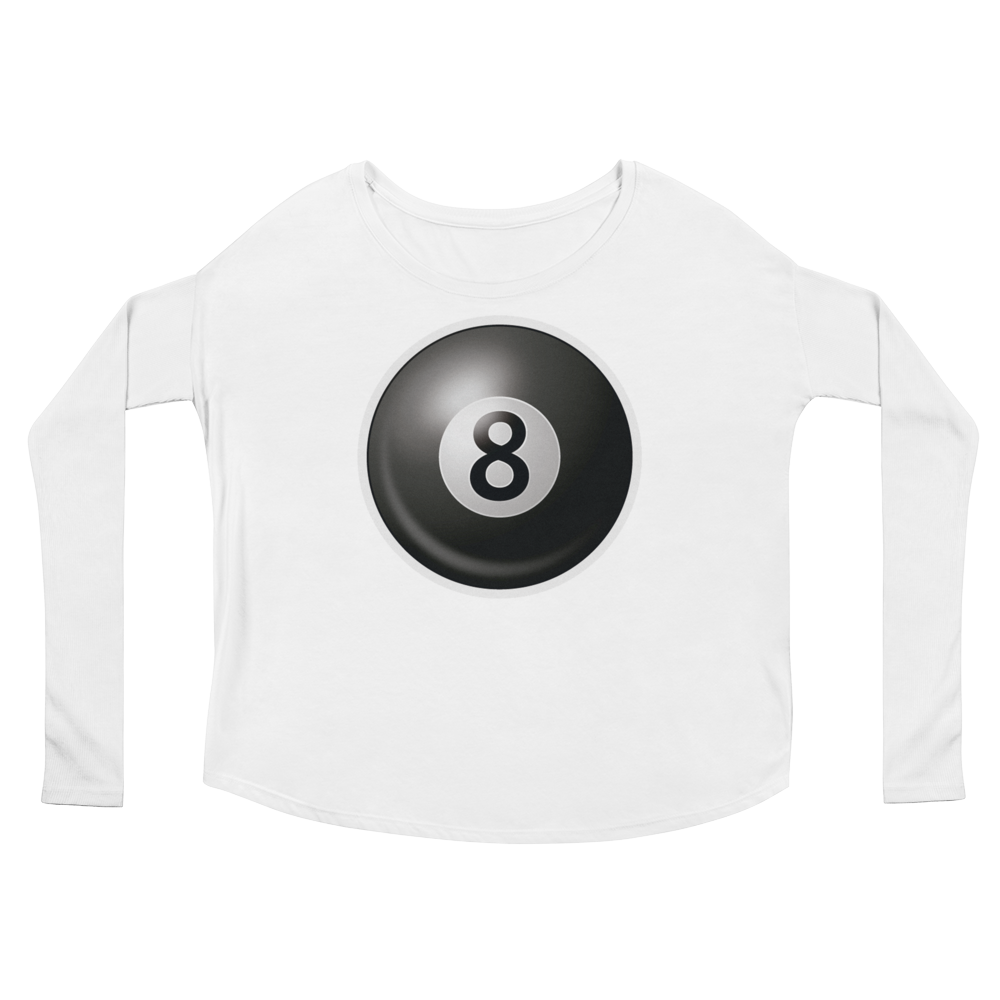 Women's Emoji Long Sleeve T-Shirt - Billiards-Just Emoji