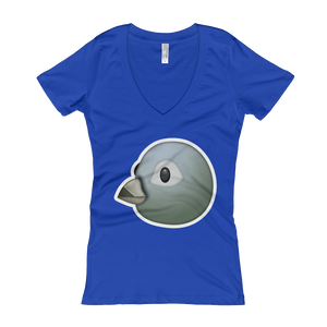 Women's Emoji V-Neck - Bird-Just Emoji