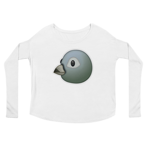 Women's Emoji Long Sleeve T-Shirt - Bird-Just Emoji