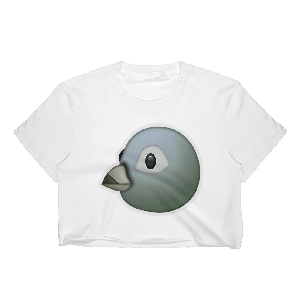 Emoji Crop Top T-Shirt - Bird-Just Emoji