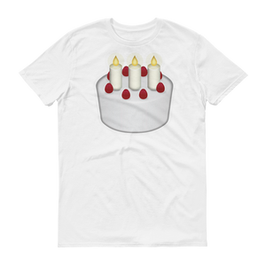 Men's Emoji T-Shirt - Birthday Cake-Just Emoji