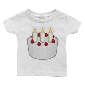 Emoji Baby T-Shirt - Birthday Cake-Just Emoji