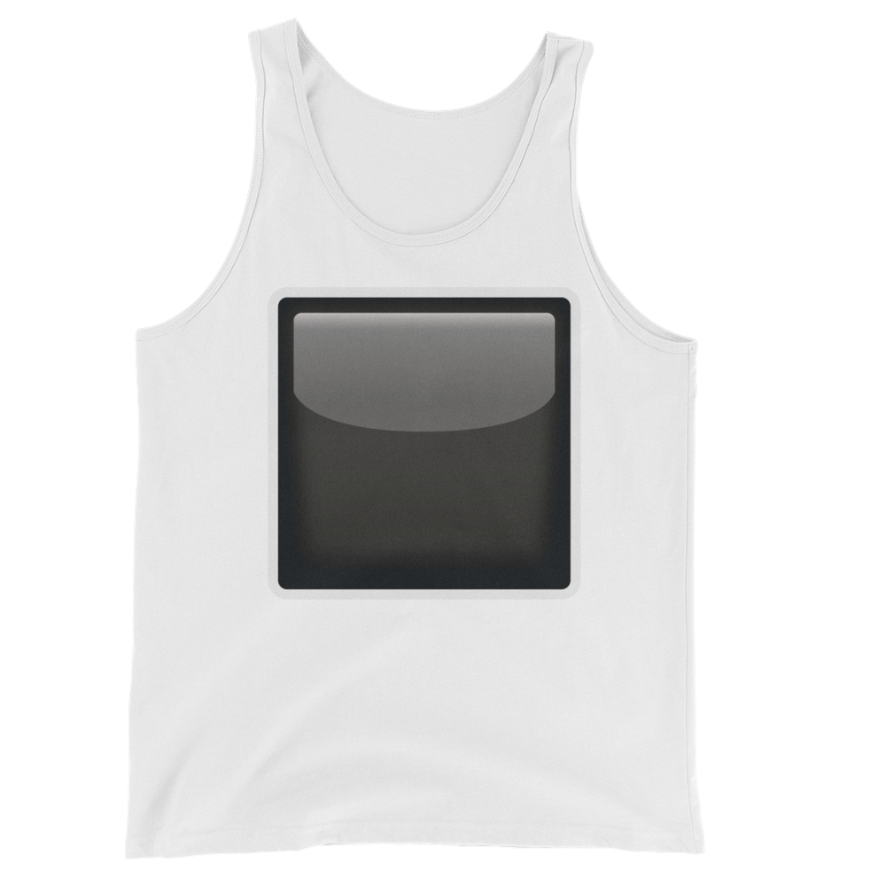Men's Emoji Tank Top - Black Square Button-Just Emoji
