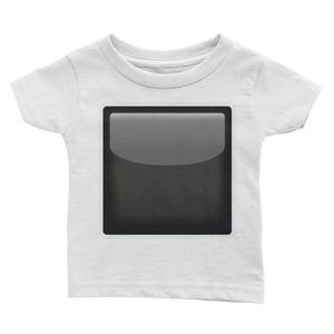 Emoji Baby T-Shirt - Black Square Button-Just Emoji