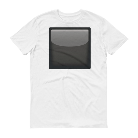 Men's Emoji T-Shirt - Black Square Button-Just Emoji