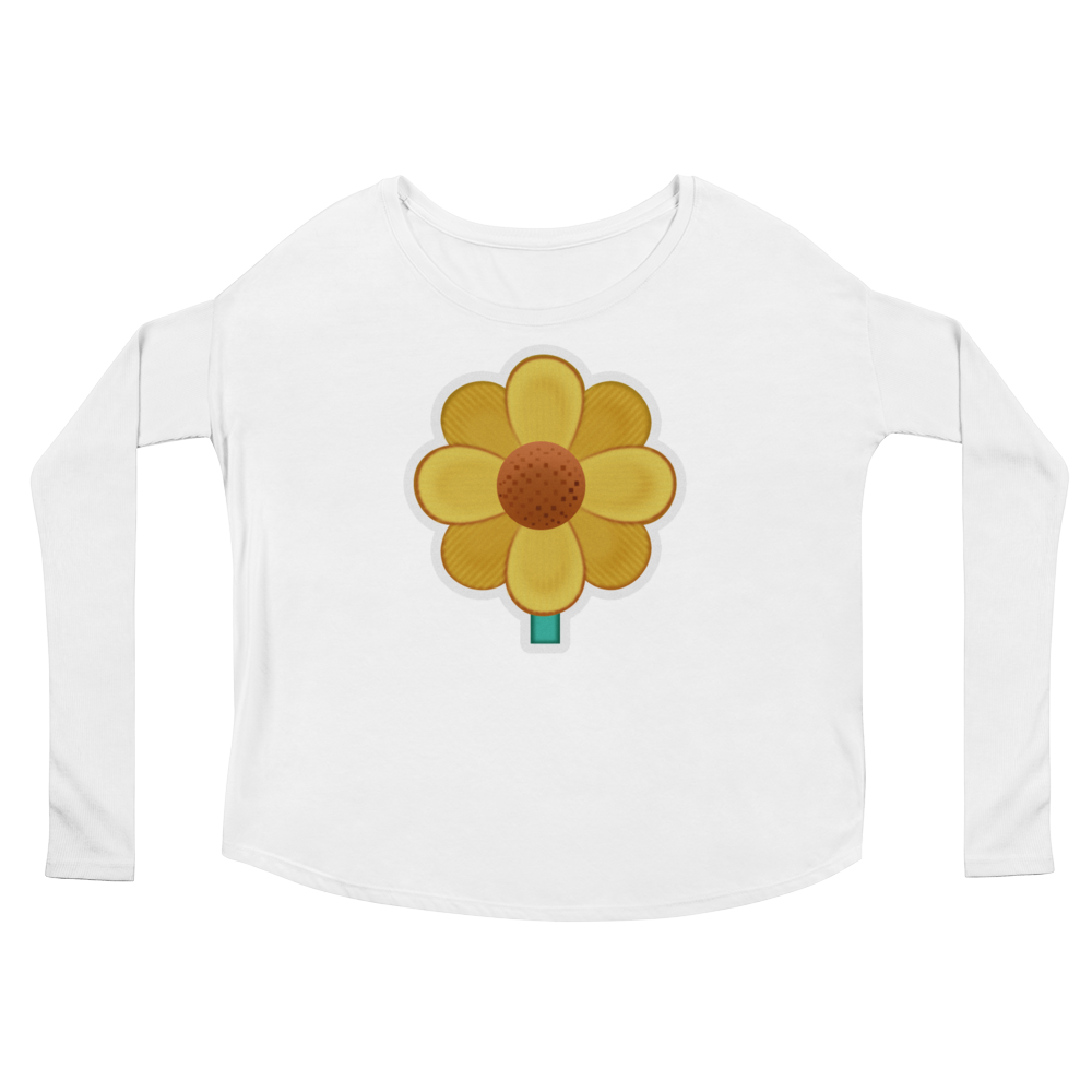 Women's Emoji Long Sleeve T-Shirt - Blossom-Just Emoji