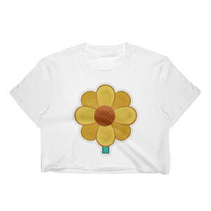 Emoji Crop Top T-Shirt - Blossom-Just Emoji