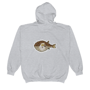Emoji Zip Hoodie - Blowfish-Just Emoji