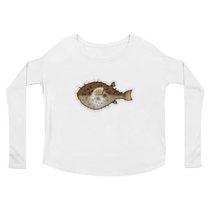 Women's Emoji Long Sleeve T-Shirt - Blowfish-Just Emoji