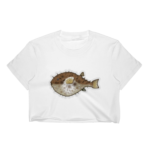 Emoji Crop Top T-Shirt - Blowfish-Just Emoji