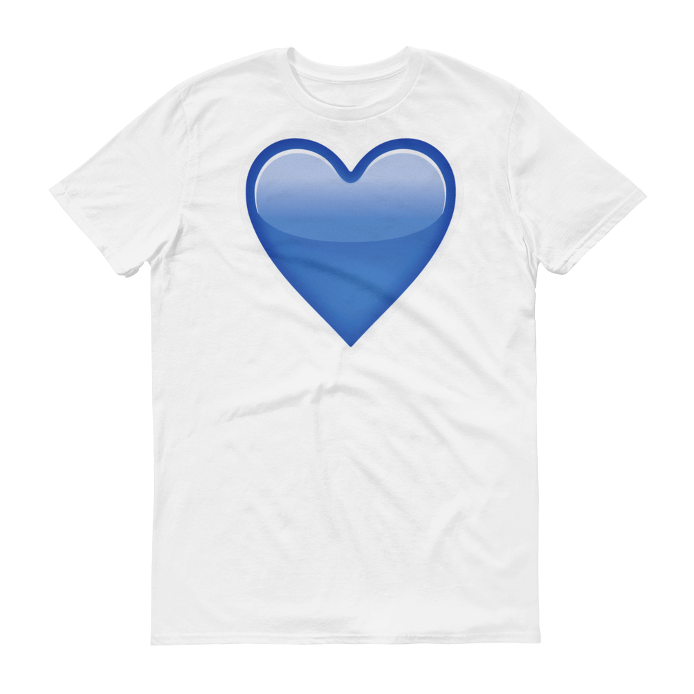 Men's Emoji T-Shirt - Blue Heart-Just Emoji
