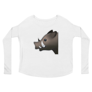 Women's Emoji Long Sleeve T-Shirt - Boar-Just Emoji