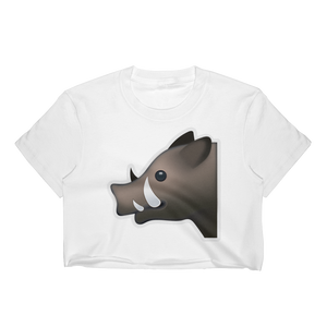 Emoji Crop Top T-Shirt - Boar-Just Emoji
