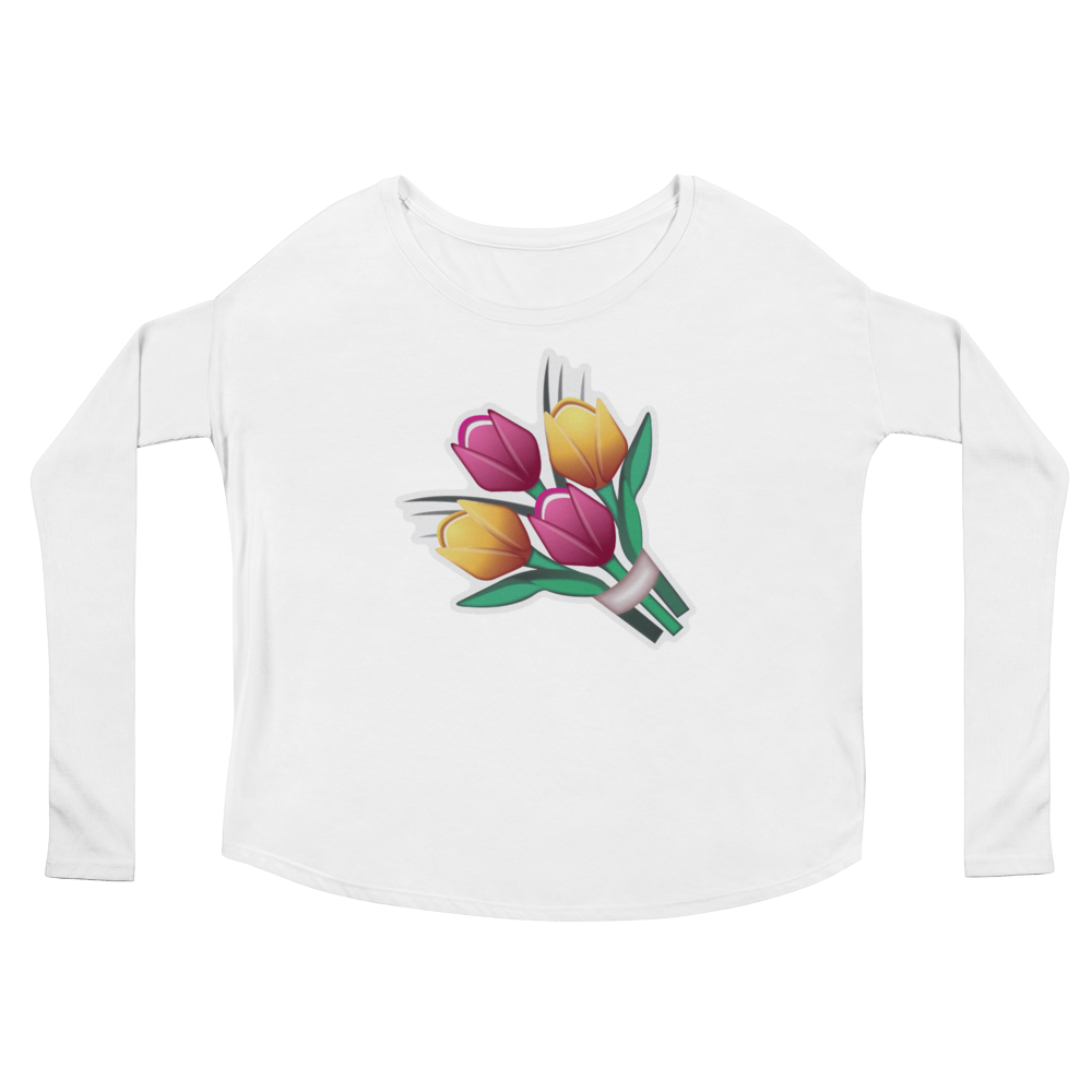 Women's Emoji Long Sleeve T-Shirt - Bouquet-Just Emoji
