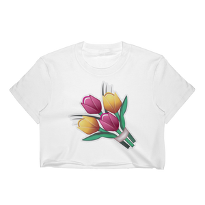 Emoji Crop Top T-Shirt - Bouquet-Just Emoji