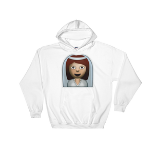 Emoji Hoodie - Bride With Veil-Just Emoji