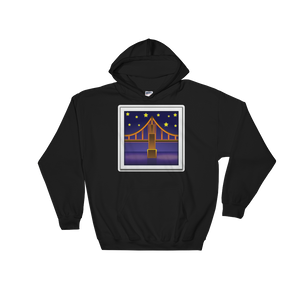 Emoji Hoodie - Bridge At Night-Just Emoji