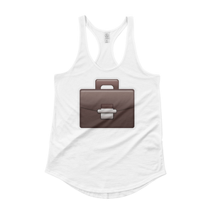 Women's Emoji Tank Top - Briefcase-Just Emoji