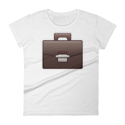 Women's Emoji T-Shirt - Briefcase-Just Emoji