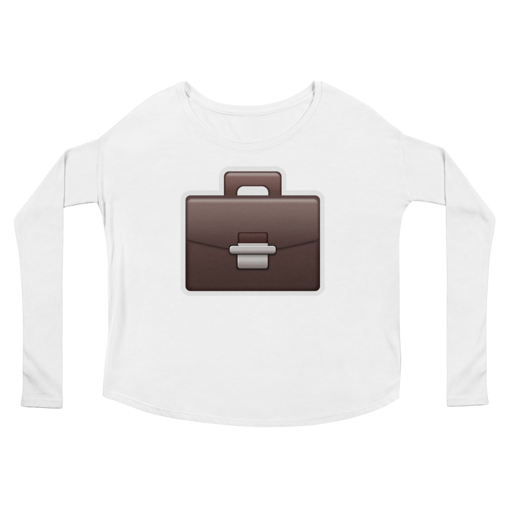 Women's Emoji Long Sleeve T-Shirt - Briefcase-Just Emoji