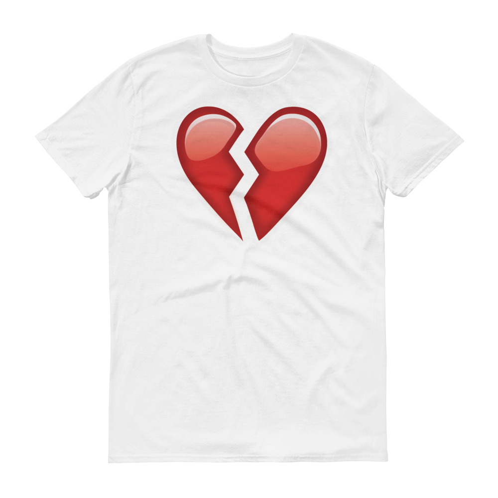 Men's Emoji T-Shirt - Broken Heart-Just Emoji