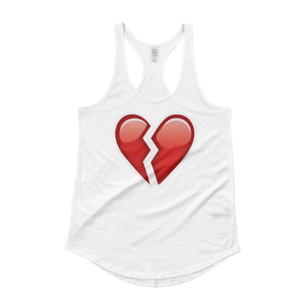 Women's Emoji Tank Top - Broken Heart-Just Emoji