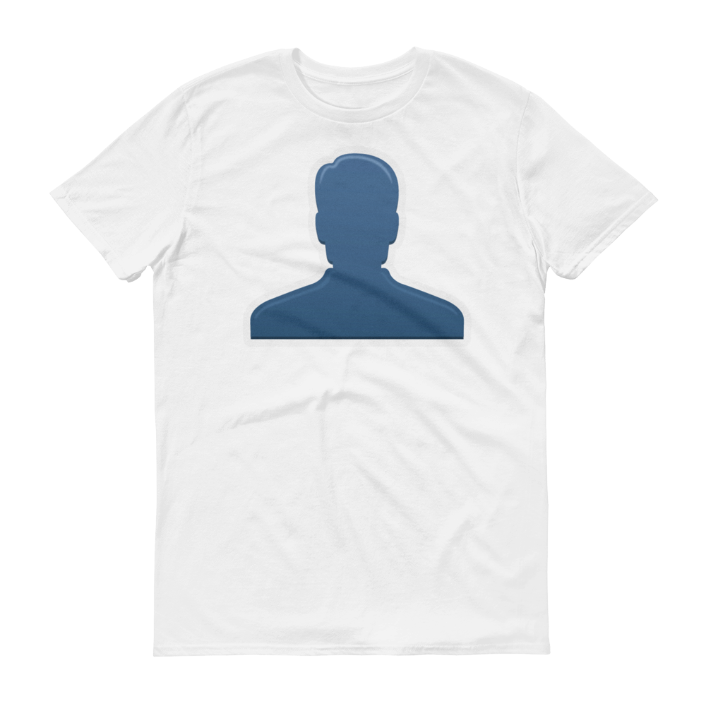Men's Emoji T-Shirt - Bust In Silhouette-Just Emoji