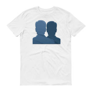 Men's Emoji T-Shirt - Busts In Silhouette-Just Emoji