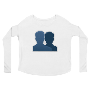 Women's Emoji Long Sleeve T-Shirt - Busts In Silhouette-Just Emoji