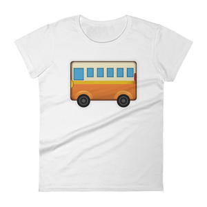 Women's Emoji T-Shirt - Bus-Just Emoji