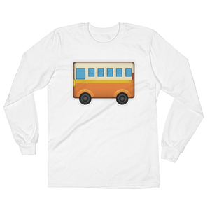 Men's Emoji Long Sleeve T-Shirt - Bus-Just Emoji