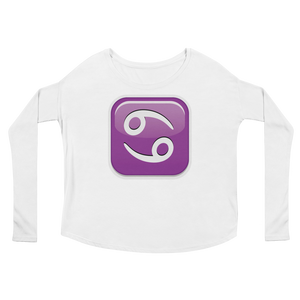 Women's Emoji Long Sleeve T-Shirt - Cancer-Just Emoji