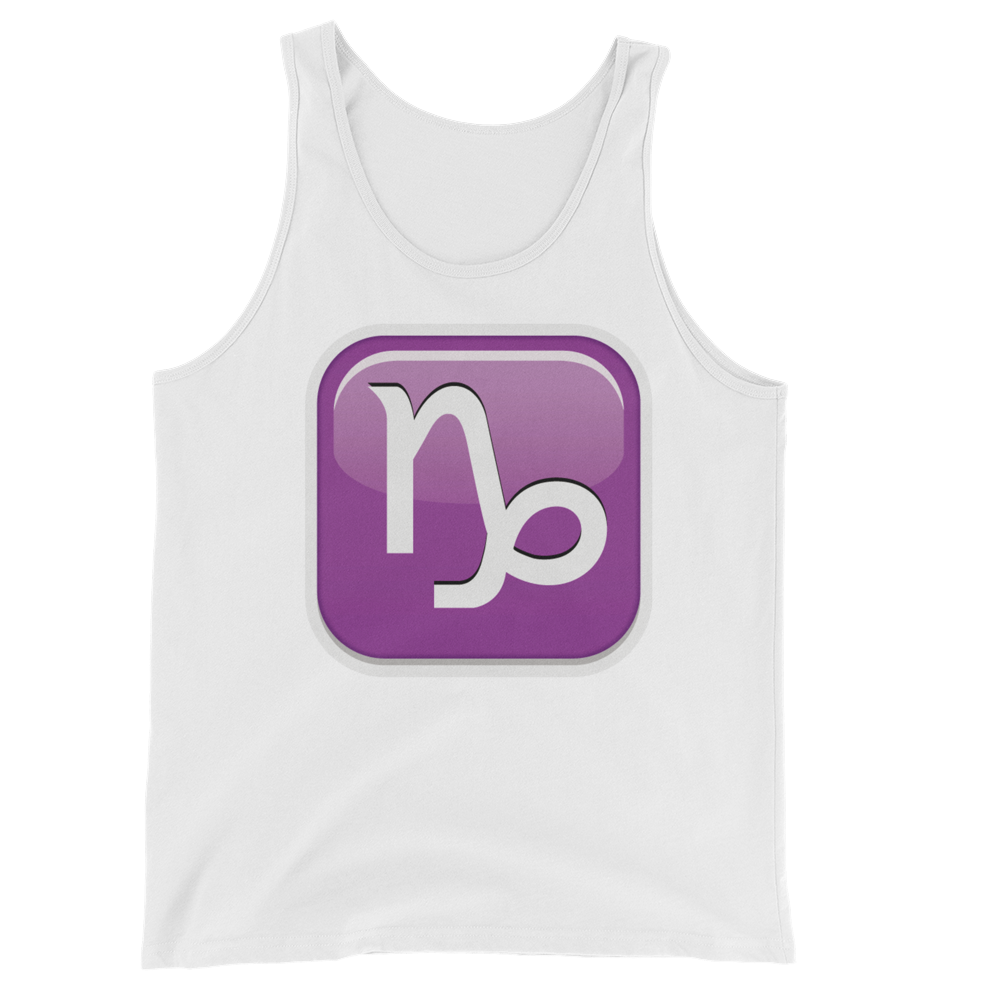 Men's Emoji Tank Top - Capricorn-Just Emoji