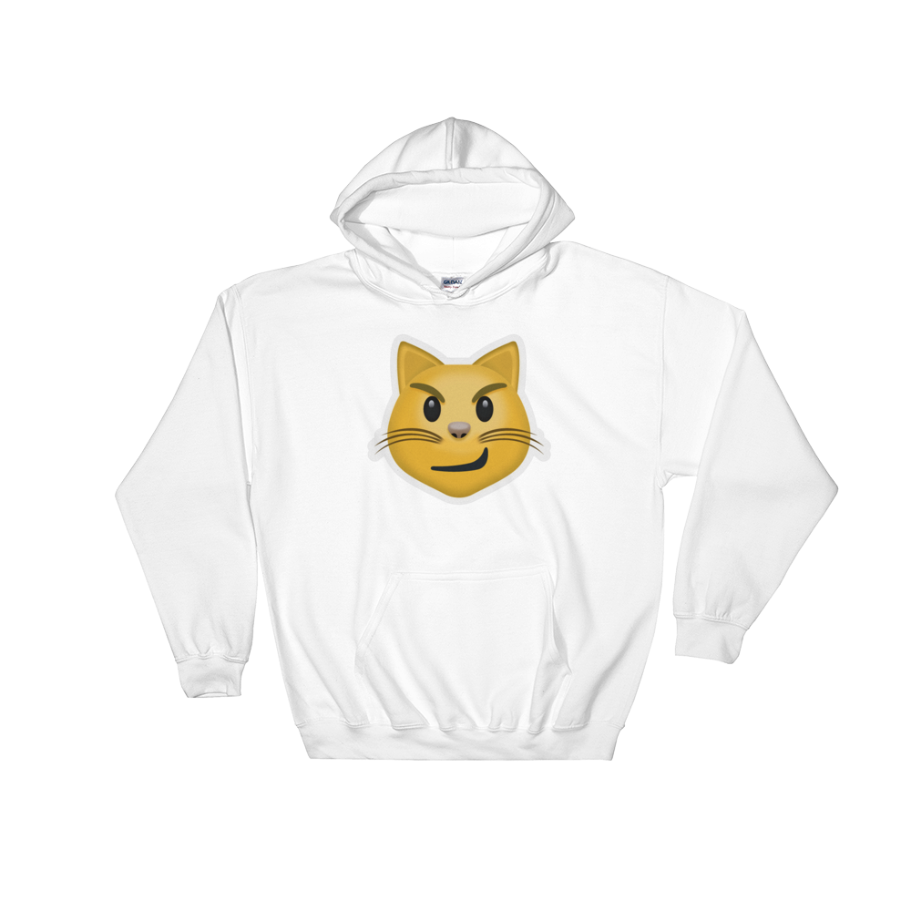 Emoji Hoodie - Cat Face With Wry Smile-Just Emoji