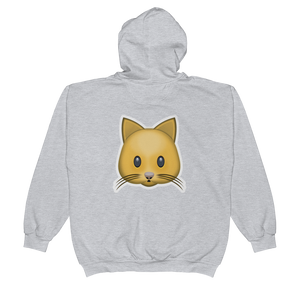 Emoji Zip Hoodie - Cat Face-Just Emoji
