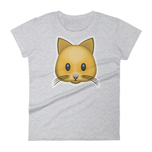 Women's Emoji T-Shirt - Cat Face-Just Emoji