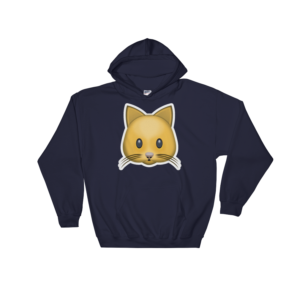 Emoji Hoodie - Cat Face-Just Emoji