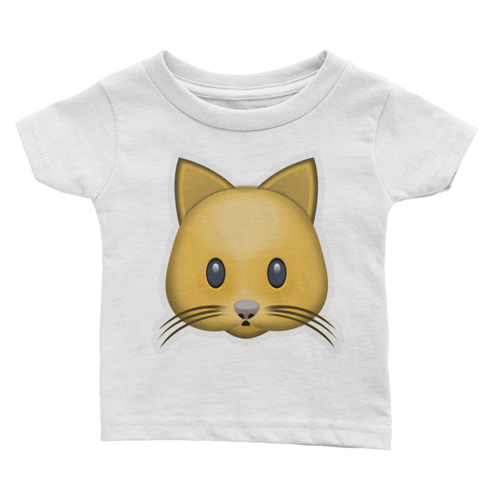 Emoji Baby T-Shirt - Cat Face-Just Emoji