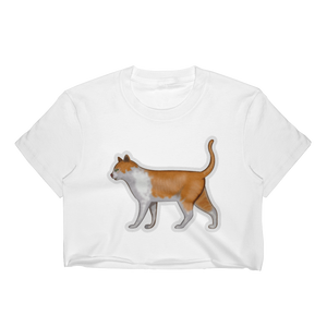 Emoji Crop Top T-Shirt - Cat-Just Emoji
