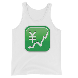 Men's Emoji Tank Top - Chart With Upwards Trend And Yen Sign-Just Emoji