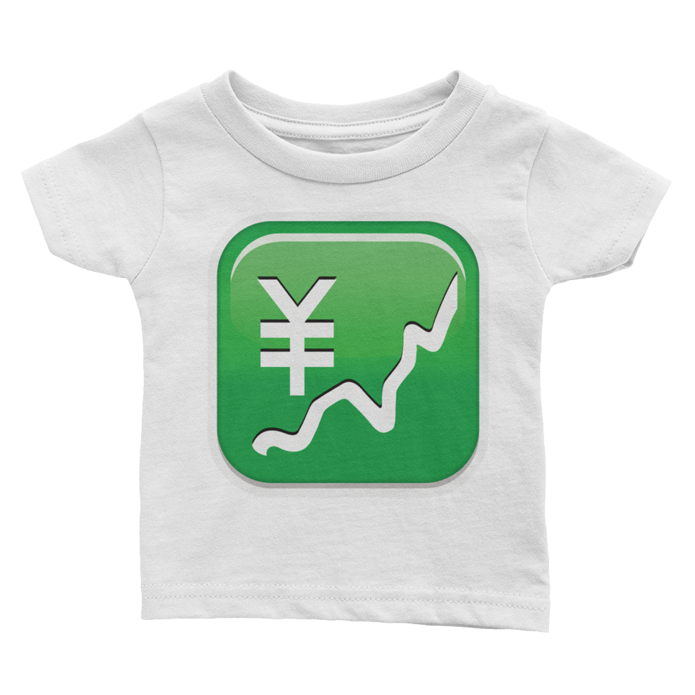 Emoji Baby T-Shirt - Chart With Upwards Trend And Yen Sign-Just Emoji