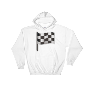 Emoji Hoodie - Checkered Flag-Just Emoji