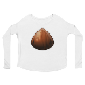 Women's Emoji Long Sleeve T-Shirt - Chestnut-Just Emoji