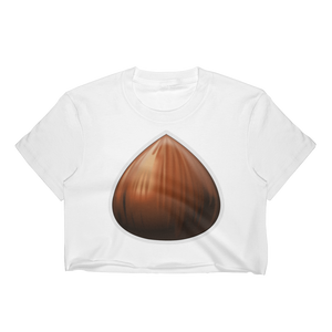 Emoji Crop Top T-Shirt - Chestnut-Just Emoji