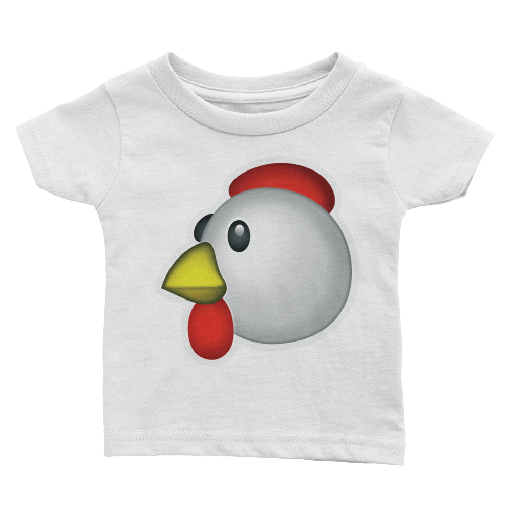 Emoji Baby T-Shirt - Chicken-Just Emoji